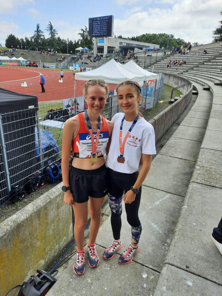De bons résultats aux championnats de France jeunes d'athlétisme à Évry